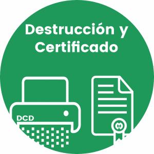 Certificado de Destrucción de Documentos 2